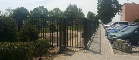 Ogrodzenie placu zabaw ul. Potulicka w Szczecinie